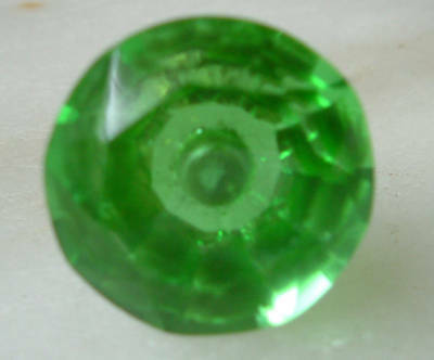 Glass tiny green Cut glass drawer &cupboard pulls door knobs