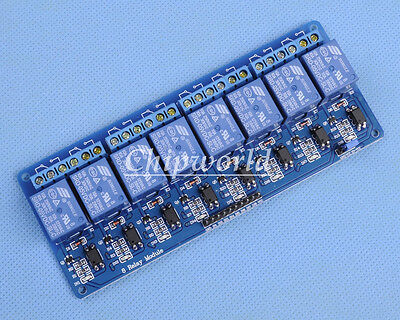5V 8-Channel Relay Module with Optocoupler Low Level Triger for Arduino Raspb