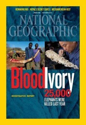 National Geographic Magazine October 2012 ~ Bloody Ivory Elephant Report / Rio