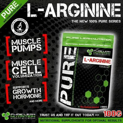 Pure L Arginine 100G * Pre Workout Pump Enhancer * Premium Grade *