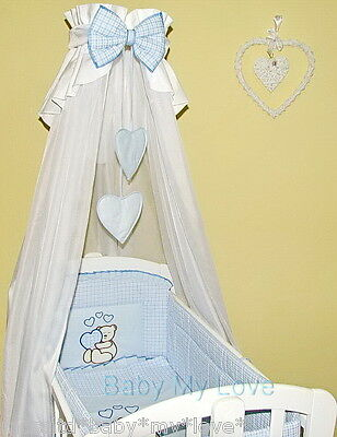 10 PCS BABY BEDDING SET to fit ROCKING CRIB /SWINGING CRIB /CRADLE/CANOPY DRAPE