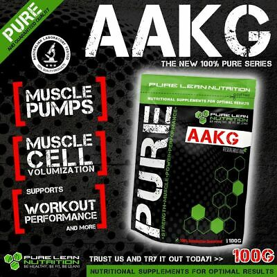 100g ARGININE ALPHA KETOGLUTARATE PURE AAKG POWDER * NITRIC OXIDE * PREWORKOUT