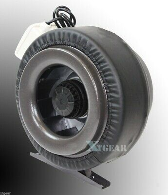 "10"" Inline 760CFM 110V Duct Fan Vent Exhaust Air Cooled Hydroponic Fan Blower"