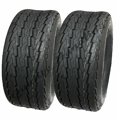 2 -(pair) 20.5 x 8-10 trailer tyres 8 ply high speed road legal buggy cart mower