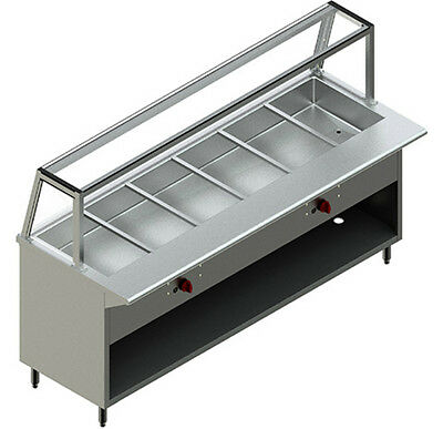 NEW RESTAURANT STAINLESS STEEL 6' Steam Table Nat Gas Modle PBTS-6G