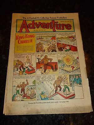 ADVENTURE Comic - No 1390 - Date 08/09/1951 - UK Paper Comic (King-Kong)