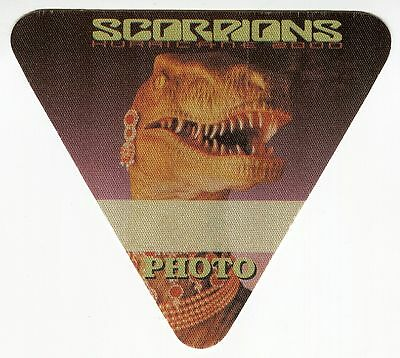 SCORPIONS 2000 Moment Of Glory Concert Tour Backstage Pass!!! Authentic OTTO