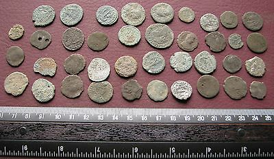 Lot of 39 Authentic Ancient Roman Coins   Mostly 3rd to 5th Centuries A.D. 12328