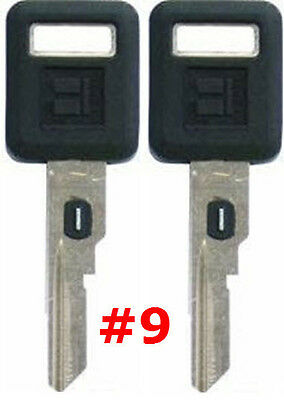 2 NEW GM Single Sided VATS Ignition Key #9 UNCUT V.A.T.S B62-P9 - MADE IN USA