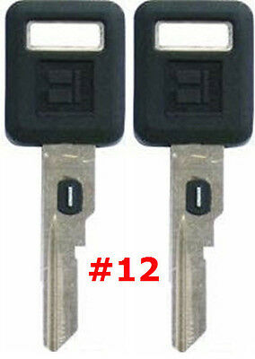 2 NEW GM Single Sided VATS Ignition Key #12 UNCUT V.A.T.S B62-P12 - MADE IN USA