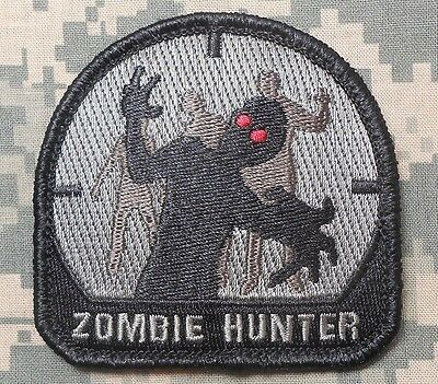 Zombie Hunter Tactical Outbreak Army Response Acu Velcro® Brand Fastener Patch