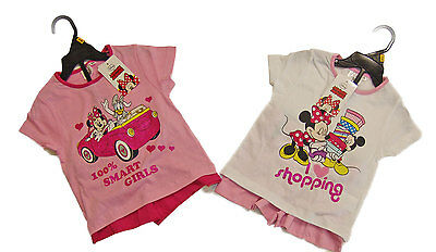 Ensemble Fille Tee Shirt+Short Disney Minnie du 3ans au 8ans Neuf Pierre-cedric