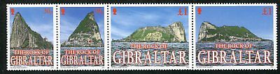 Gibraltar 2002 Rock Of Gibraltar Set - With Pieces Of The Rock On  Each Stamp!