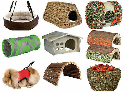 Trixie Guinea Pig Treats Toy Toys Play Tunnels Tent Dental Chew Hay Manger Bed