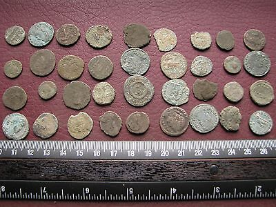 Lot of 36 Authentic Ancient Roman Coins   Mostly 3rd to 5th Centuries A.D. 12315