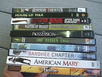HORROR LOT DVD HOUSE WAX AUTOPSY POSSESSION RING BANSHEE CHAPTER AMERICAN MARY