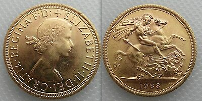 Collectable Gold full Sovereign 1968 coin Queen Elizabeth II ,, George & Dragon