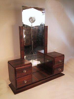 FRENCH Art Deco Modernist Vanity / Makeup Table / Dressing Table 1940's