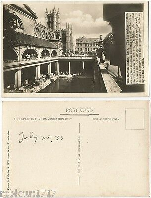 CPA old postcard 1930 Cathedral Roman Baths BATH Somerset Angleterre [193 A]