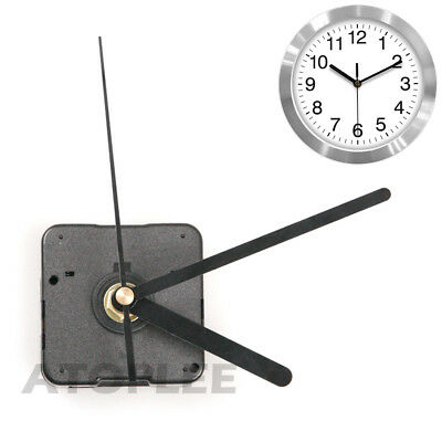 Black Wall Clock Quartz Movement DIY Mechanism Battery Operated Motor & Fittings