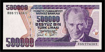 World Paper Money - Turkey 500000 Lira L.1970 P212 @ Crisp UNC