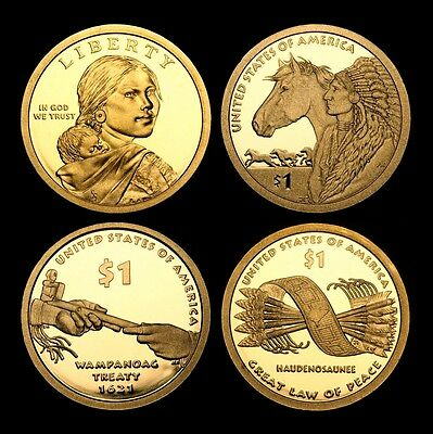 2010 2011 2012  2013 S Sacagawea Native American Mint Proof Coins from Proof Set
