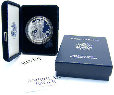 American Eagle 1 Dollar 2002 Walking Liberty One Ounce Proof Silver Bullion Coin