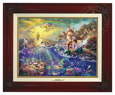 THE LITTLE MERMAID - Disney - Thomas Kinkade Classic (Brandy Frame)