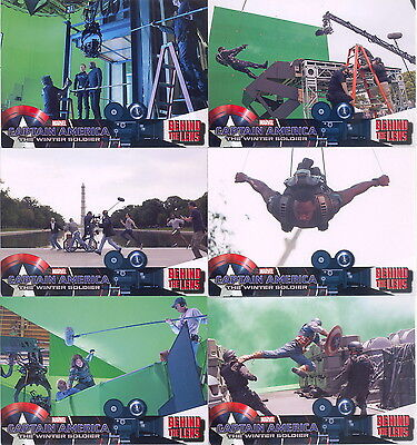 Captain America Winter Soldier Behind The Lens Insert Card Set Btl-1 To 6 Marvel