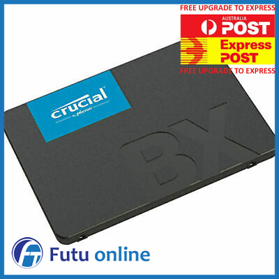 "Crucial BX500 2TB SSD 2.5"" SATA III Internal Solid State Drive Laptop PC 540MBs"