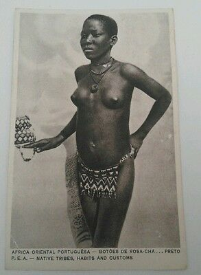 AFRICA ~ 1900's TOPLESS  NATIVE WOMAN