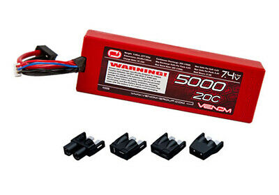 NEW Venom LiPo 2S 7.4V 5000mAh 20C LIPO BATTERY TRX DEANS EC3 TAMIYA CONNECTER