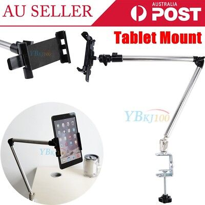 Universal Adjustable Swing Arm Tablet Holder Table Mount for iPad Phones Tablet