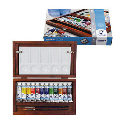 Van Gogh Artists Watercolour Tube Wooden Box Paint Set