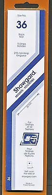 Showgard Stamp Mounts Size 36 x 215 BLACK Background Pack of 15