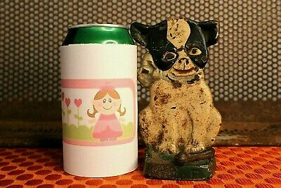 Antique Cast Iron French Bulldog Boston Terrier Puppy Dog 'IMP' Hubley Doorstop