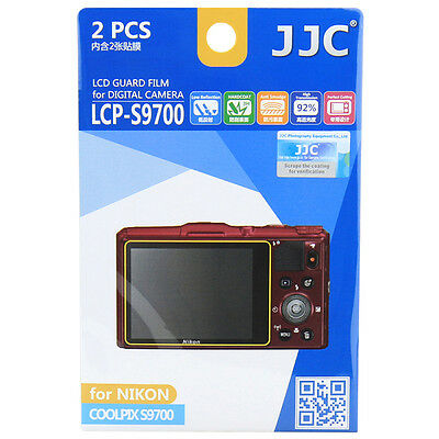 JJC LCP-S9700 LCD Film Camera Screen Display Protector for NIKON COOLPIX S9700
