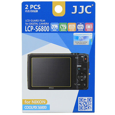 JJC LCP-S6800 LCD Film Camera Screen Display Protector for NIKON COOLPIX S6800