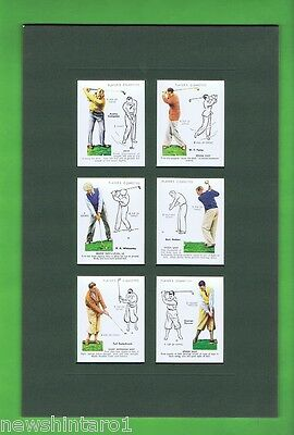 Twelve  Mounted Golf  Cards In Two Mounts