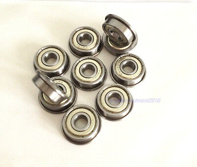 New 10pcs Flange Ball Bearing F627ZZ 7*22*7 mm Metric flanged Bearing