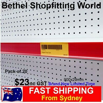 Pack of 20 Data Strips 900mm Retail Price Label Holder For Shelving Gondolas NEW