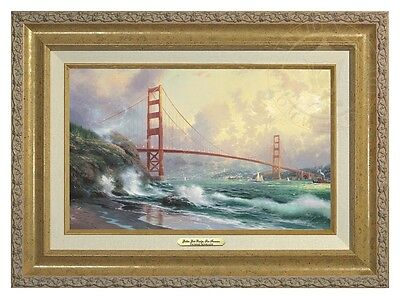 Thomas Kinkade San Francisco Golden Gate Bridge 12 x 18 Classic (Gold Frame)