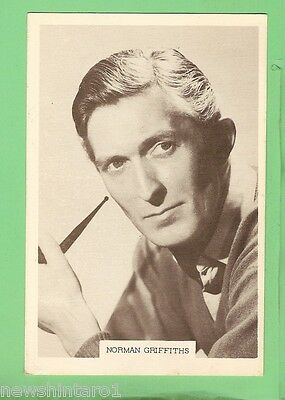 #D115. 1960s  TV  FAN CARD - NORMAN GRIFFITHS