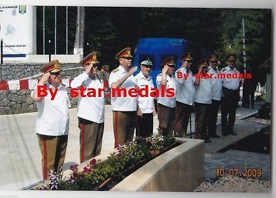 Rare Romania military photo group with more Romanian officers Generals #3
