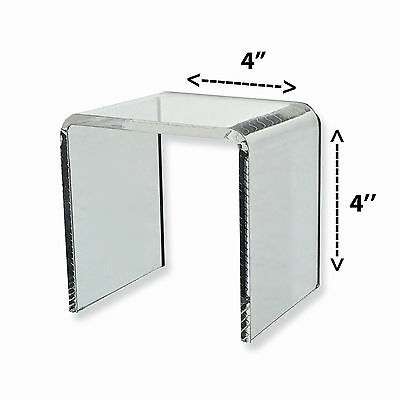 Acrylic Clear Square Riser Display Stand 4 x 4 x 4