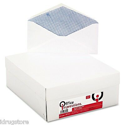 Office Impressions, Security Tinted Business Envelopes, V-Flap, #10, 500/Box