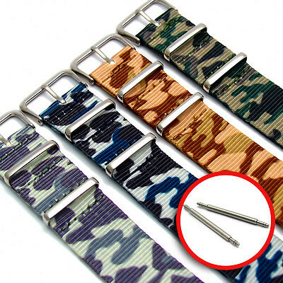 NATO G10 Camouflage Watch Strap Choice of colour 16mm 18mm 20mm 22mm 24mm C049