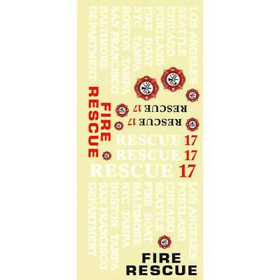 NEW AquaCraft Decal Sheet Rescue 17 Fireboat AQUB6331