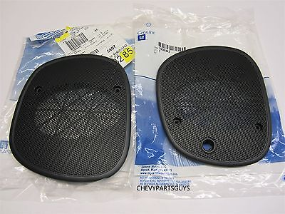 S-10 Blazer S-10 Pickup Sonoma Black Left & Right Dash Speaker Grille Cover pair