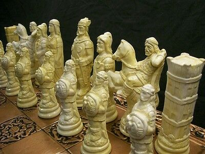 The Viking Chess set- marble effect